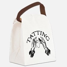 tatting_bl.png Canvas Lunch Bag