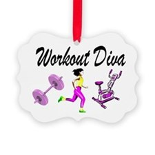 WORKOUT & GYM Picture Ornament