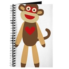Cute Sock Monkey Journal