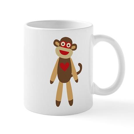 Cute Sock Monkey Mug
