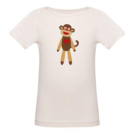 Cute Sock Monkey Organic Baby T-Shirt