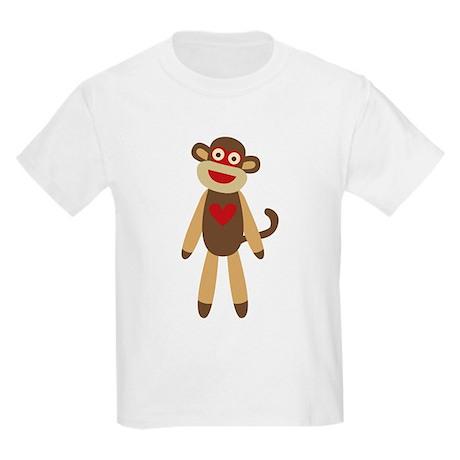 Cute Sock Monkey Kids Light T-Shirt
