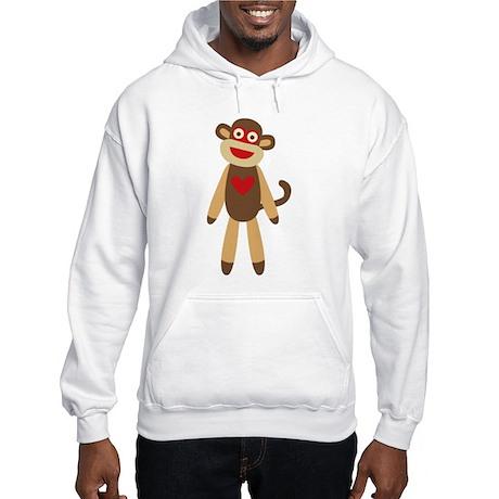 Cute Sock Monkey Hooded Sweatshirt
