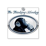 The Thinking Monkey Square Sticker 3
