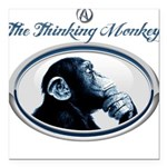 The Thinking Monkey Square Car Magnet 3