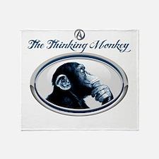 The Thinking Monkey Throw Blanket