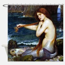 John William Waterhouse Mermaid Shower Curtain