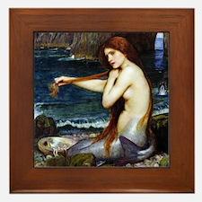 John William Waterhouse Mermaid Framed Tile