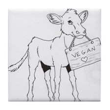 Cows Love Vegans Tile Coaster