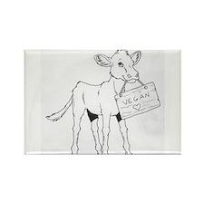 Cows Love Vegans Rectangle Magnet