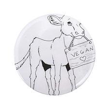 "Cows Love Vegans 3.5"" Button"