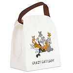 crazy-cat-lady.tif Canvas Lunch Bag