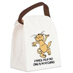 FIN-cat-dance-watching.png Canvas Lunch Bag