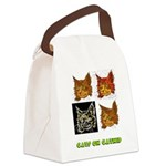 cats-on-catnip.tif Canvas Lunch Bag