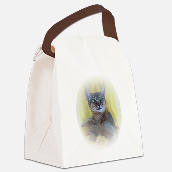 Abyssinian Cat Photo Canvas Lunch Bag