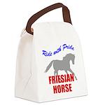rwp-friesian-horse.tif Canvas Lunch Bag