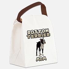 Boston Terrier Mom Canvas Lunch Bag