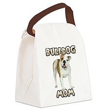 Bulldog Mom Canvas Lunch Bag