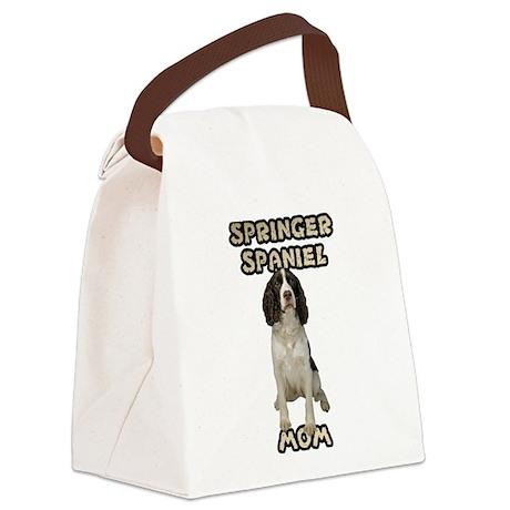 Springer Spaniel Mom Canvas Lunch Bag