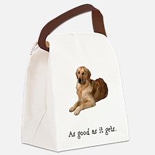 2-FIN-golden-retriever-good.png Canvas Lunch Bag