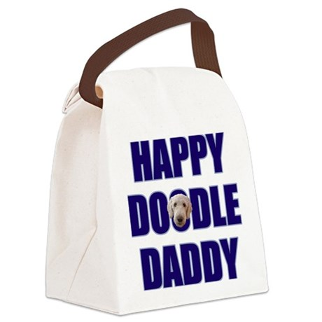 FIN-happy-doodle-daddy.png Canvas Lunch Bag