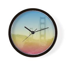Dreamy Golden Gate Bridge Wall Clock