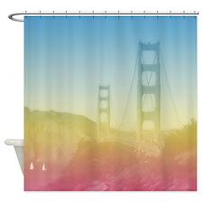 Dreamy Golden Gate Bridge Shower Curtain