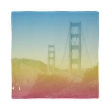 Dreamy Golden Gate Bridge Queen Duvet