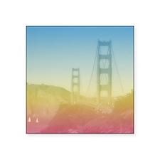 """Dreamy Golden Gate Bridge Square Sticker 3"""" x 3"""""""