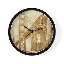 Vintage Golden Gate Bridge Wall Clock