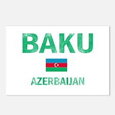 Baku Azerbaijan Designs Postcards (Package of 8)