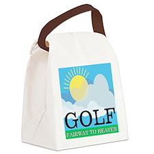 Golf Fairway to Heaven Canvas Lunch Bag