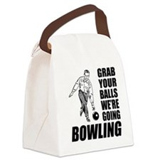 Grab Your Balls Bowling Canvas Lunch Bag