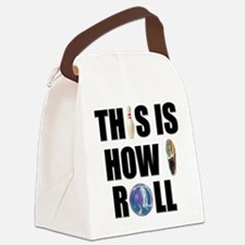 How I Roll Bowling Canvas Lunch Bag