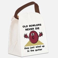 FIN-bowlers-never-die.png Canvas Lunch Bag