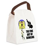 FIN-fine art bowling.png Canvas Lunch Bag