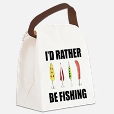 FIN-rather be fishing.png Canvas Lunch Bag