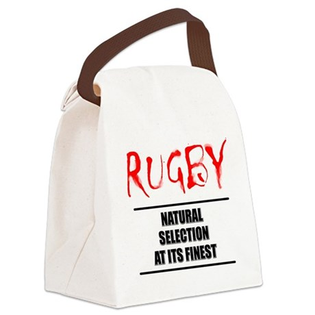 Rugby Natural Selection Canvas Lunch Bag