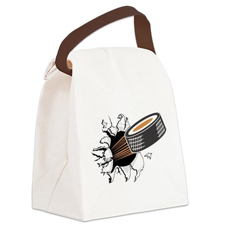 FIN-hockey-puck-tearing.png Canvas Lunch Bag