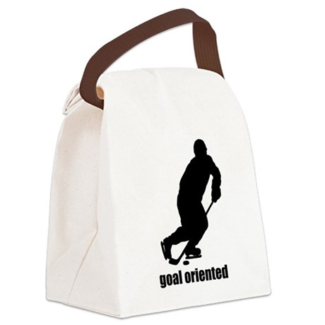Goal Oriented Hockey Canvas Lunch Bag
