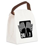 FIN-racing flags 24-7.png Canvas Lunch Bag