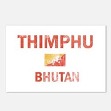 Thimphu Bhutan Designs Postcards (Package of 8)