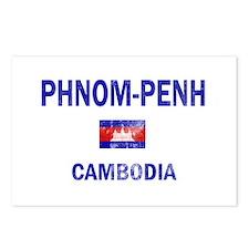 Phnom penh Cambodia Designs Postcards (Package of