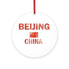 Beijing China Designs Ornament (Round)