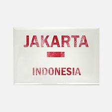 Jakarta Indonesia Designs Rectangle Magnet