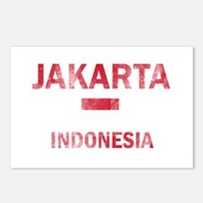 Jakarta Indonesia Designs Postcards (Package of 8)