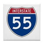 I-55 Highway Tile Coaster
