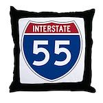 I-55 Highway Throw Pillow