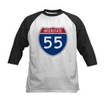I-55 Highway Kids Baseball Jersey