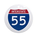 I-55 Highway Ornament (Round)